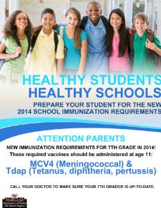7th Grade Vaccines