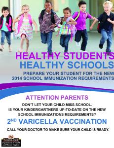 Kindergarten Vaccines