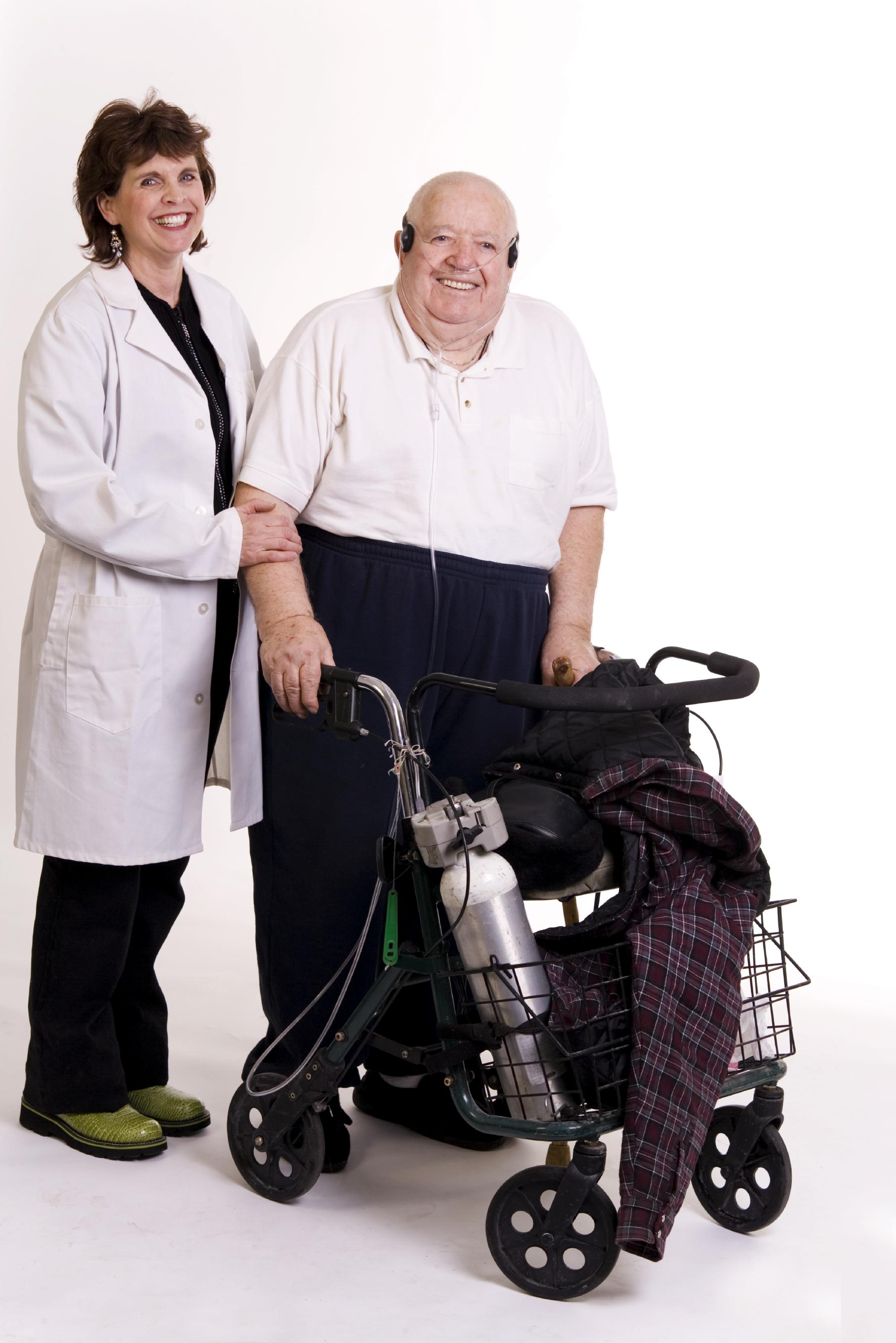 Patient on Oxygen
